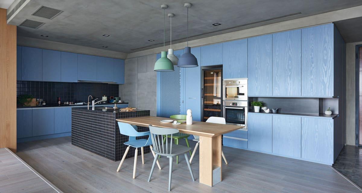cuisine bleue bleuet