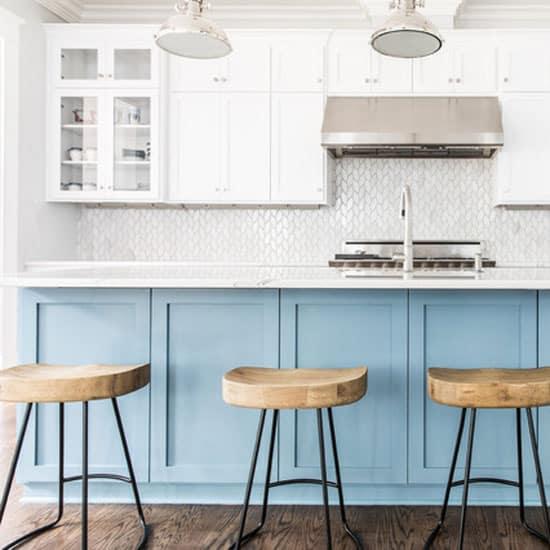 cuisine bleue turquoise