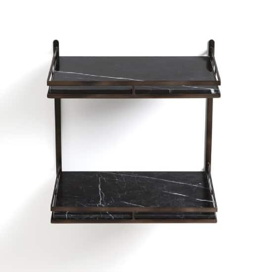 Table de chevet suspendue en marbre