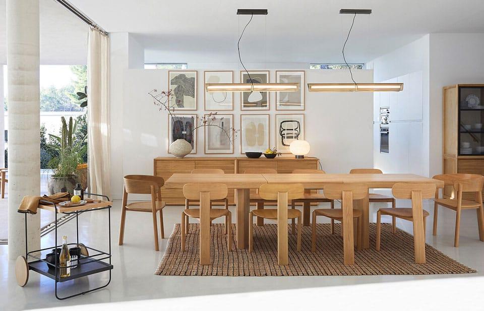 Nouvelle collection AMPM : salle à manger tendance bois