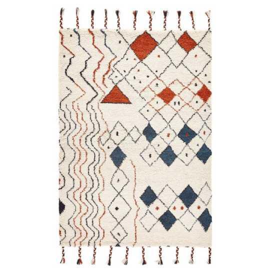 Tapis aux motifs ethniques géométriques