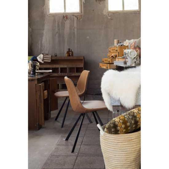 Chaise design en cuir vintage
