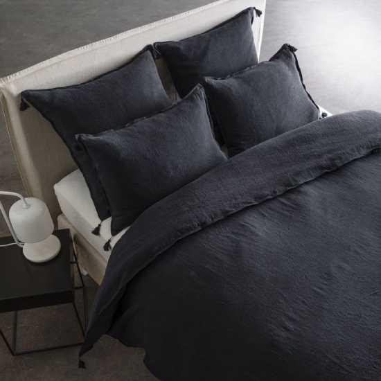 Parure de lit noire