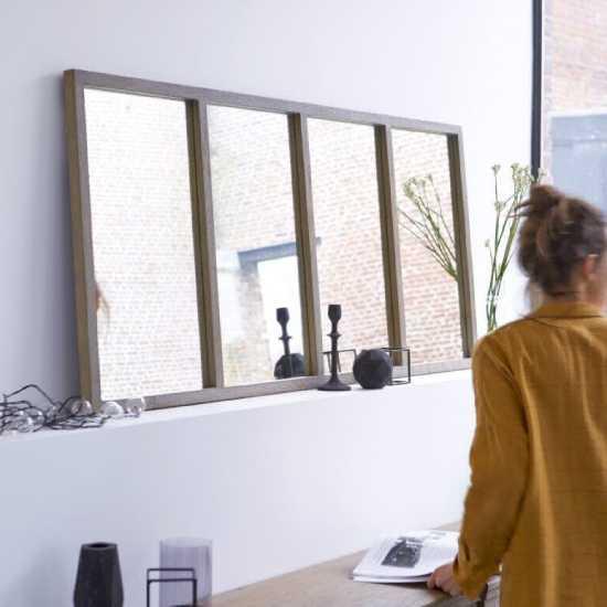 Miroir verrière en bois