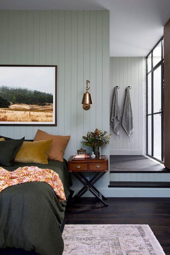 Chambre aux murs couleur pastel