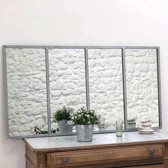 Miroir verrière en zinc