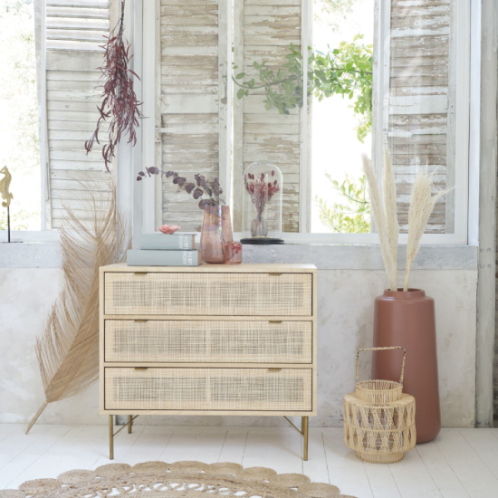 Commode en cannage maisons du monde