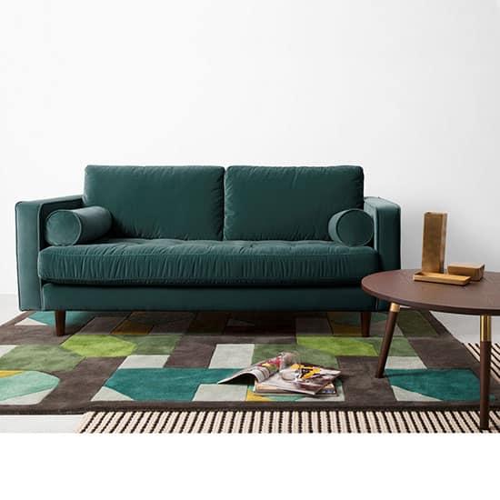 Grand canapé 2 places en velours