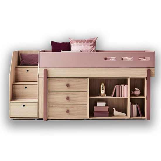 lit enfant mezzanine avec rangement