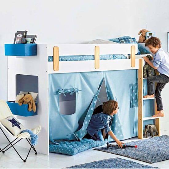 lit mi-hauteur pour bambins