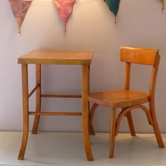 Chaise de bureau enfant vintage