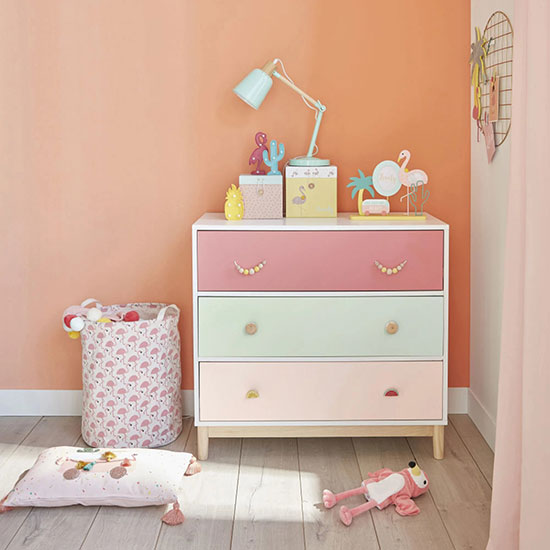 commode rose enfant