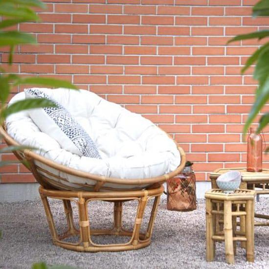 fauteuil papasan en rotin