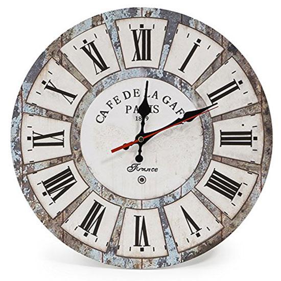 horloge murale industrielle