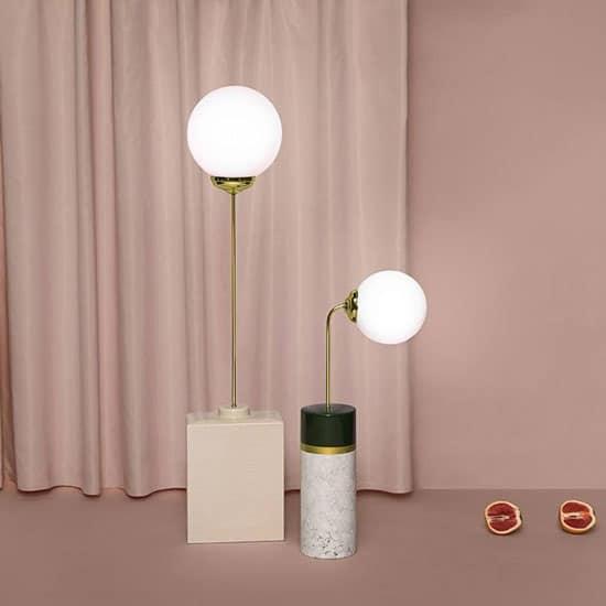 Lampe art déco en céramique