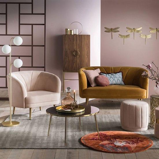 Canapé de salon en velours