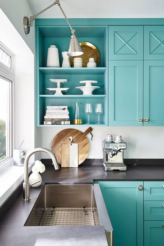 cuisine bleue émeraude