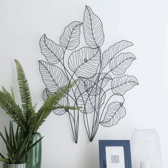 Déco murale feuilles en métal ORLA