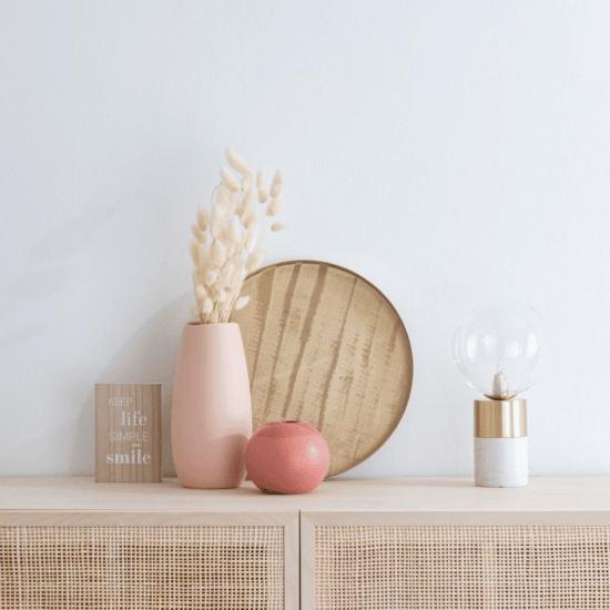 Vase en grès beige rosé