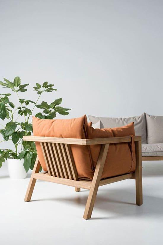 Fauteuil scandinave design en bois