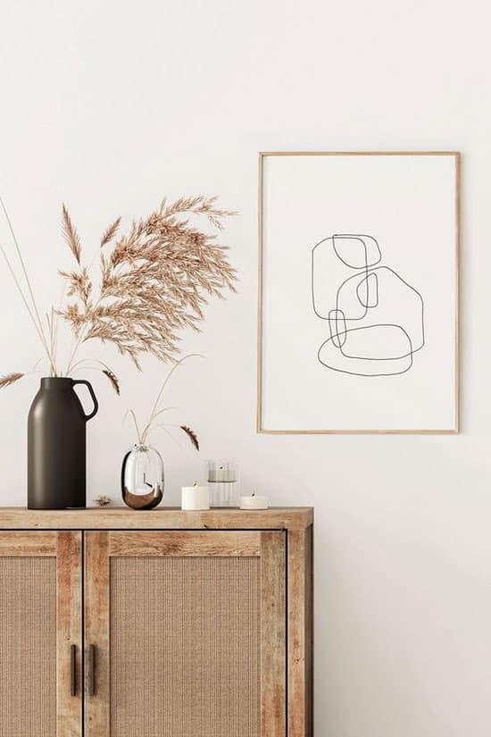 Poster au style minimaliste