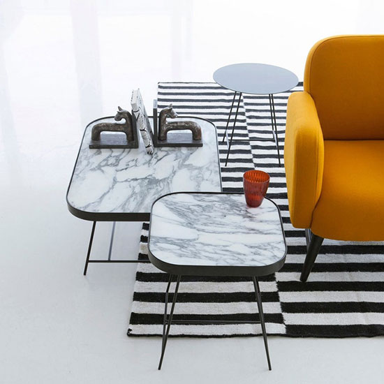 Table basse design en marbre