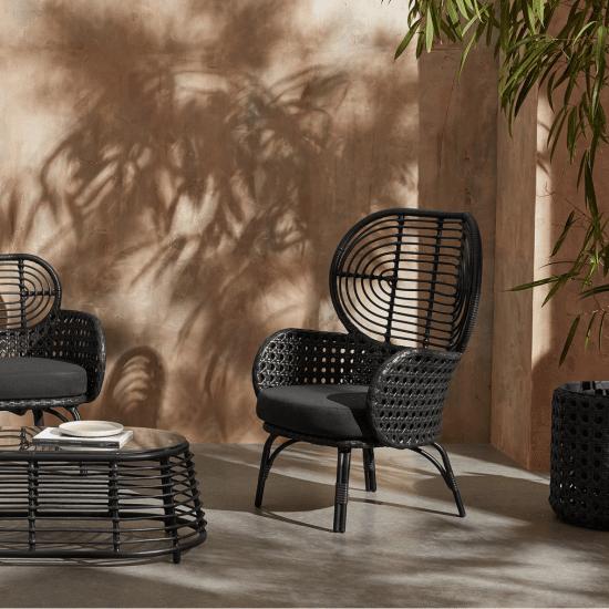 fauteuil de jardin design tressé