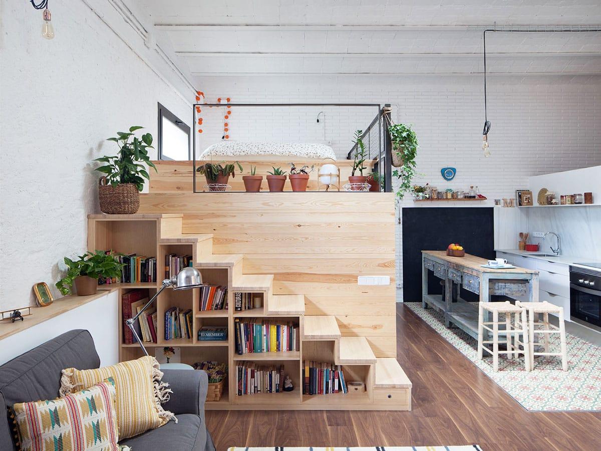 Lit Superposé Sous Pente mezzanine : 31 exemples d'aménagement pour gagner de la place