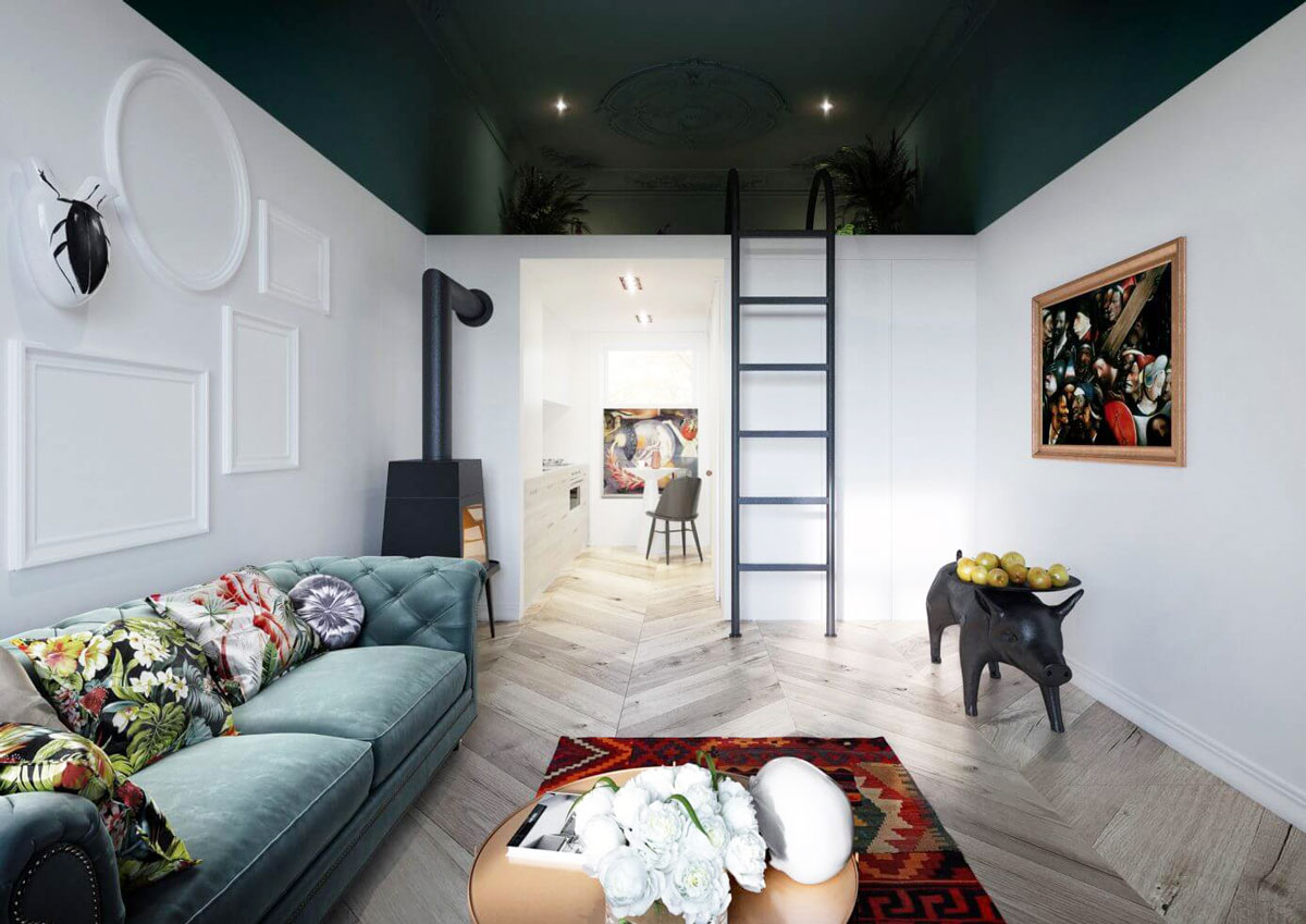 Une chambre cachée dans le plafond