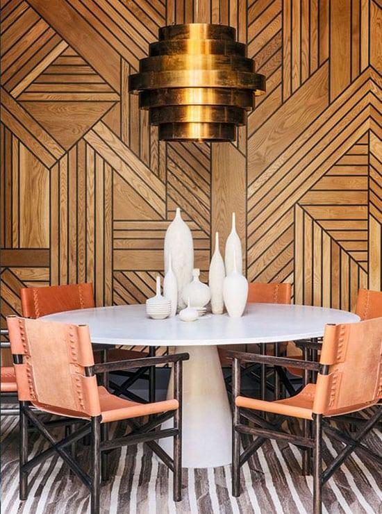 Restaurant aux murs graphiques