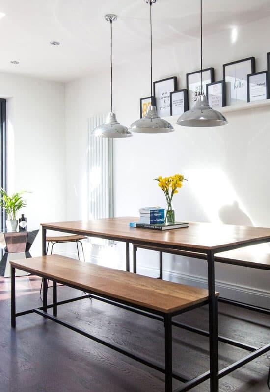 Une salle à manger à la déco industrielle et stylée