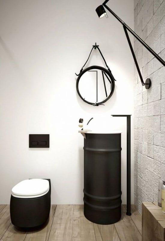 Une déco industrielle jusque dans les WC