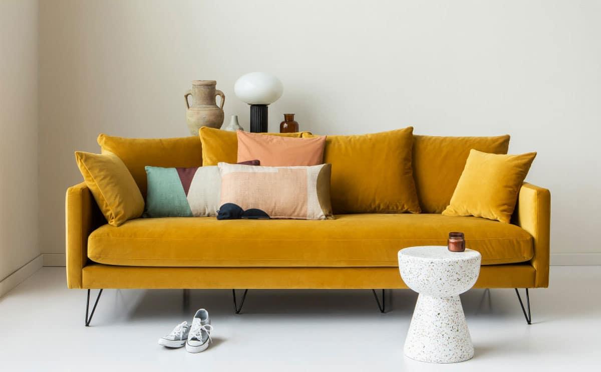 canapé villabon jaune drawer