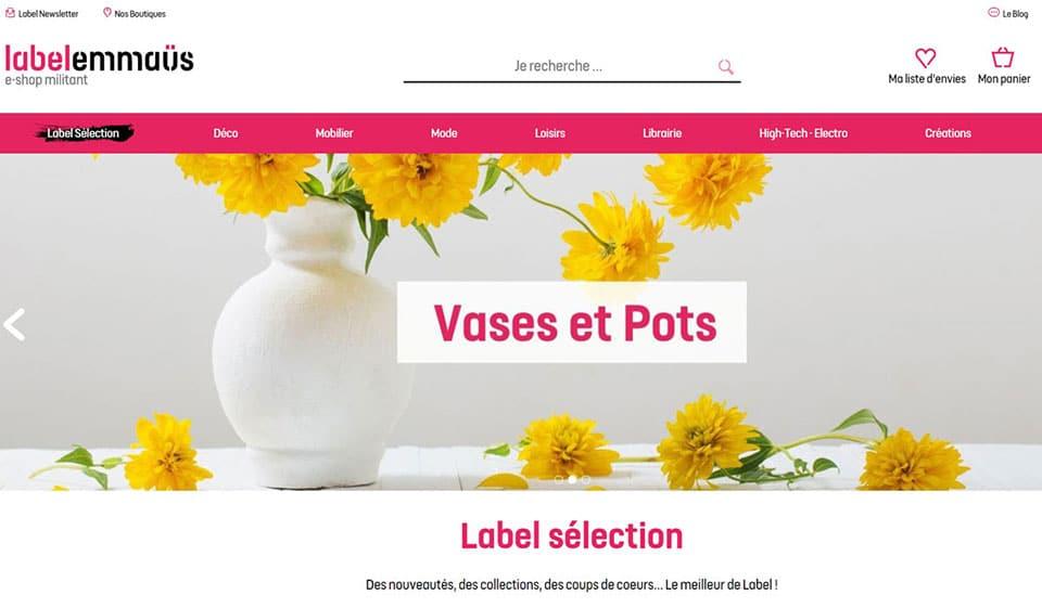 Label Emmaus brocante en ligne