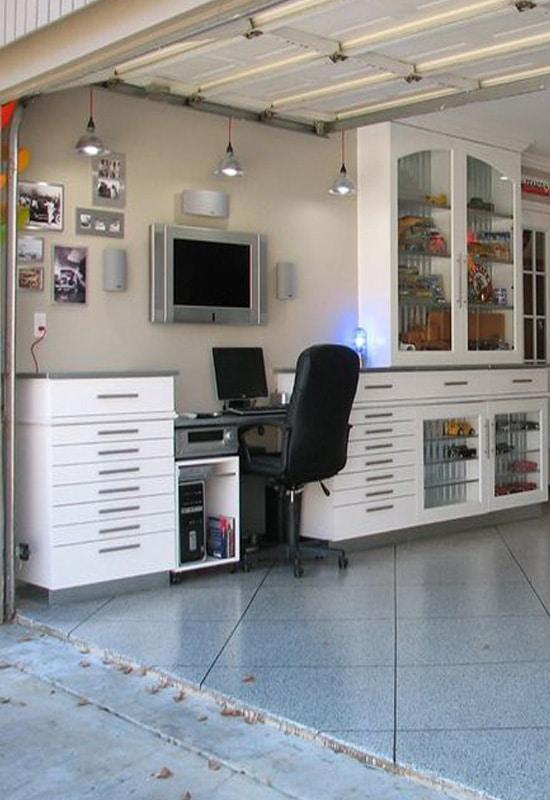 Bureau élégant installé au garage