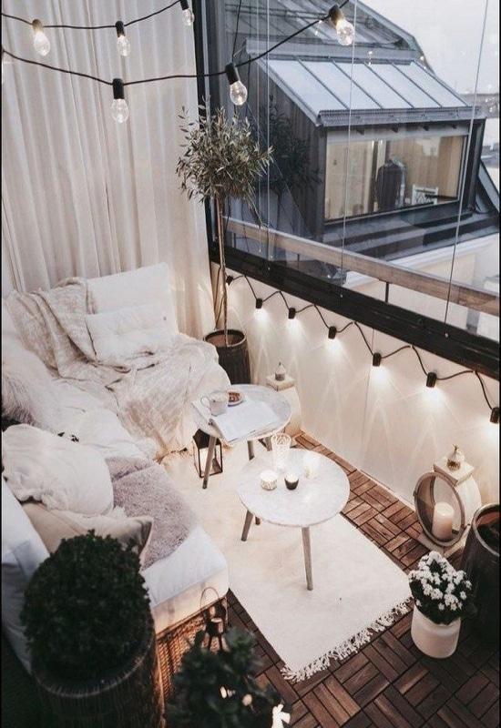 balcon avec caillebotis