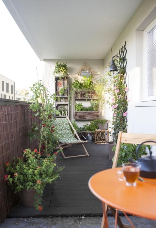 Chilienne sur balcon