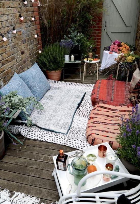 Textiles sur balcon