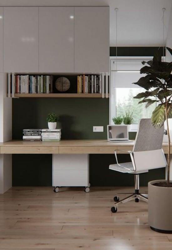 Coin bureau moderne dans les tons de vert