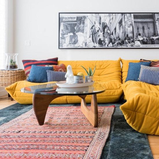 Canapé d'occasion jaune chez Selency