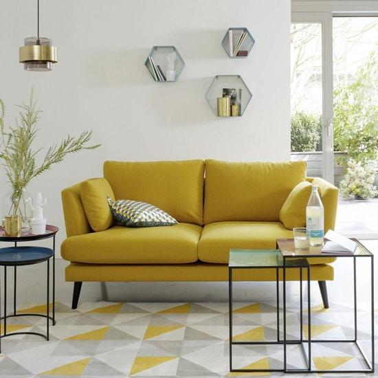 Sofa jaune 3 places