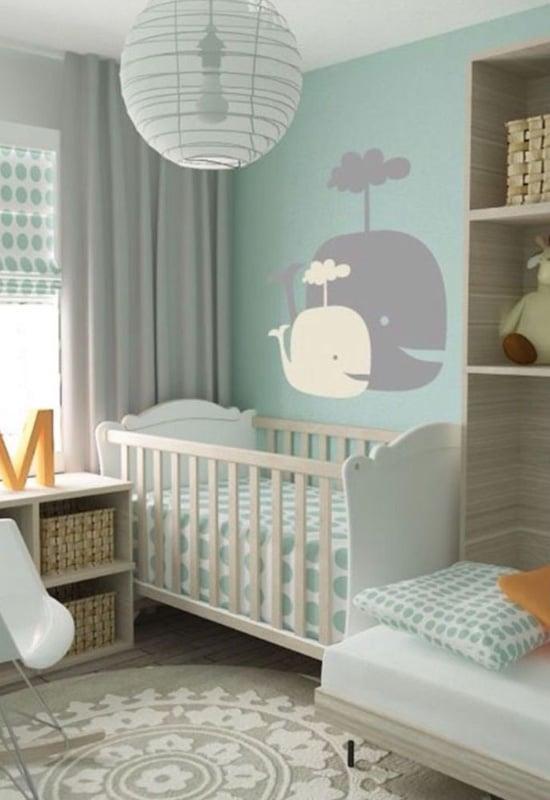 chambre bébé vert céladon