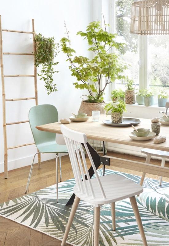 Détails verts en décoration d'intérieur