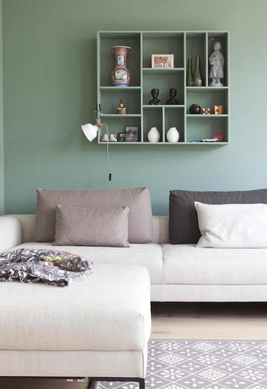 Peinture verte au salon