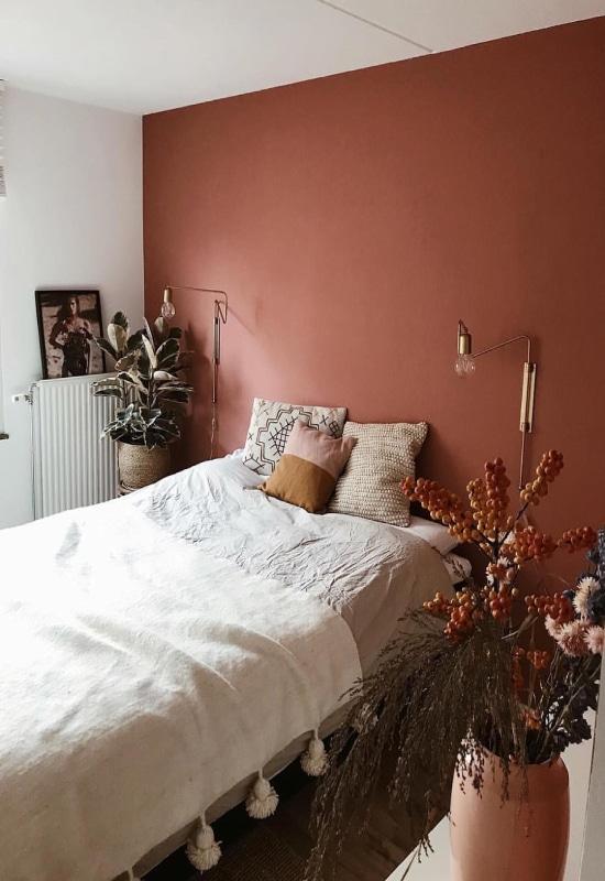 chambre parentale terracotta