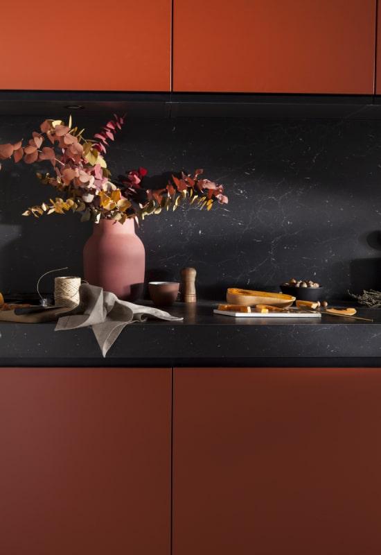 cuisine terracotta et noir