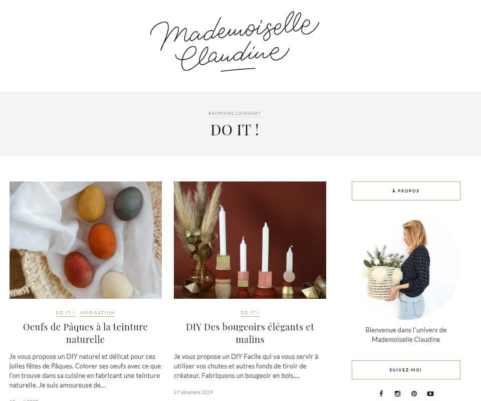 Mademoiselle Claudine blog de déco DIY