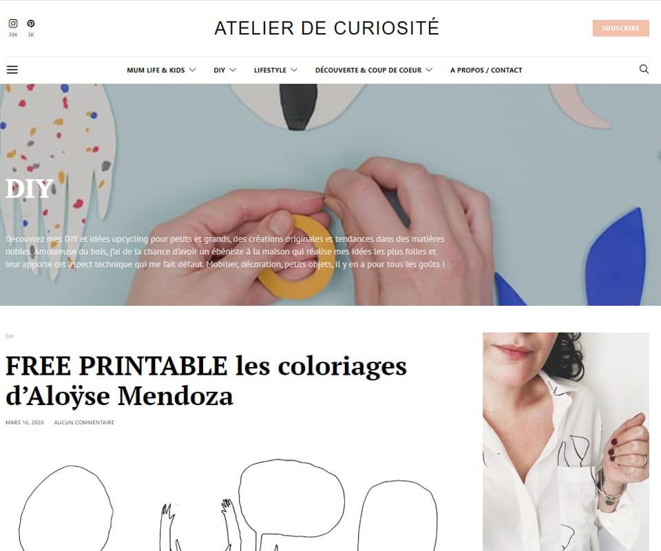 Atelier de curiosité blog de déco DIY
