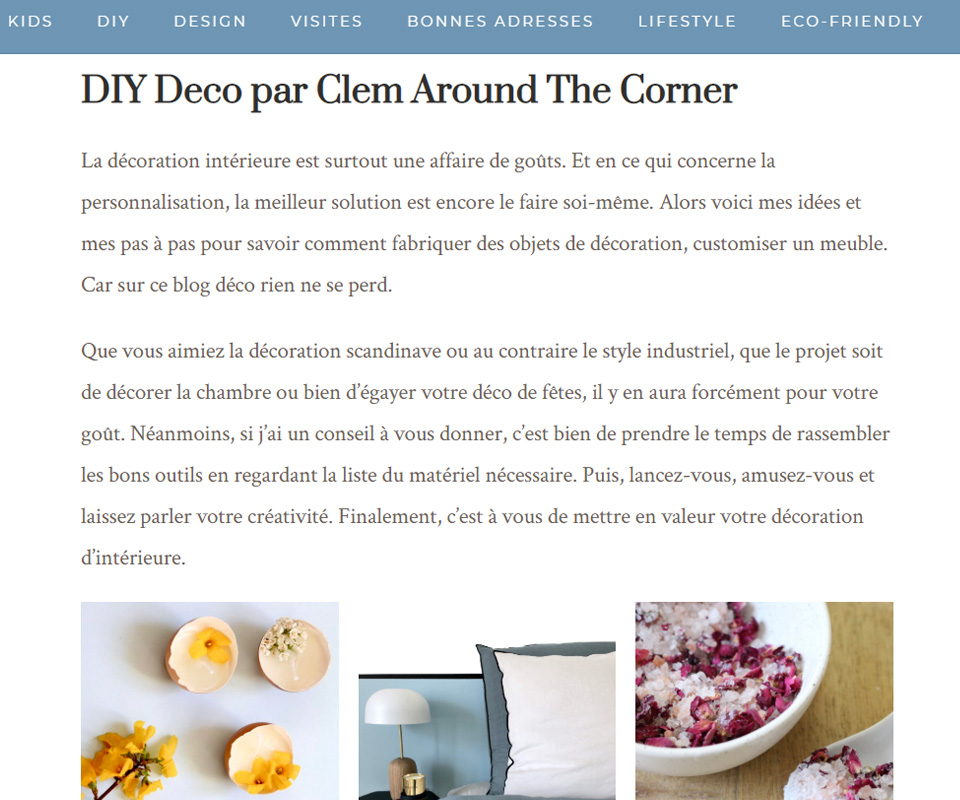 Les tutos du blog déco : Clem Around The Corner