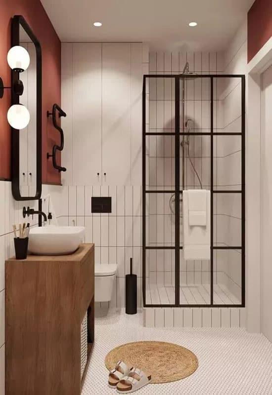 salle de bains style art déco et industriel